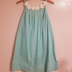 👟Mini Boden aqua daisy cotton sundress